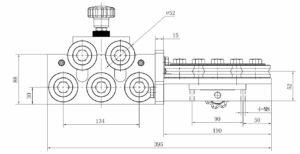 adjustable wire straightener 5 five roller 6mm 9.5mm cemanco