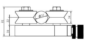 adjustable wire straightener 3 three roller adjustable cemanco