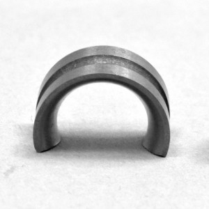 cemanco grooved solid tungsten carbide half moon wear parts