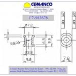 cemanco kinrei aluminum oxide ceramic bow guide eyelet