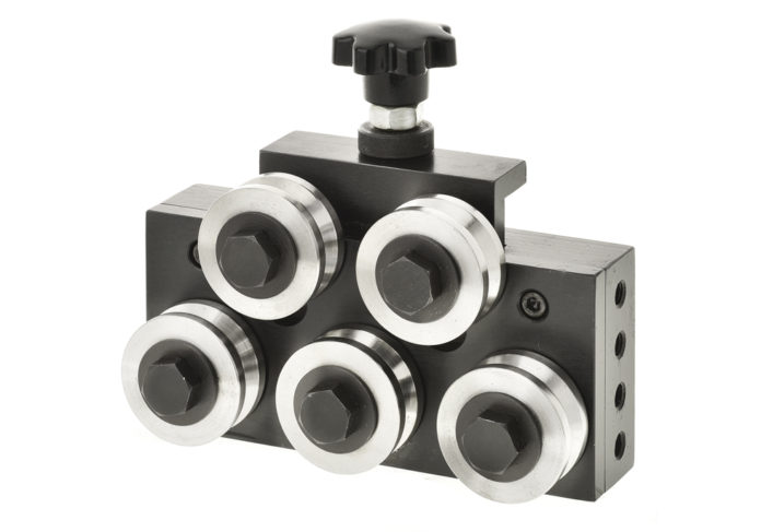 adjustable wire straightener 5 five roller cemanco 6mm 9.5mm
