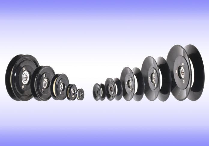 ceramic insert pulleys aluminum oxide plastic flange cemanco