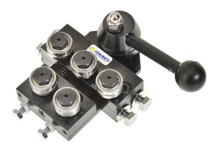 1.5mm 3mm quick release wire straightener 5 five roller adjustable cemanco