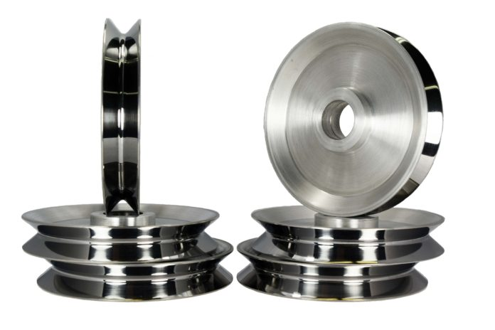 tungsten carbide coated aluminum pulleys coating pulley shiv